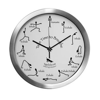 Take Time to Breathe Yoga Clock Large Aluminum | www.downdogboutique.com
