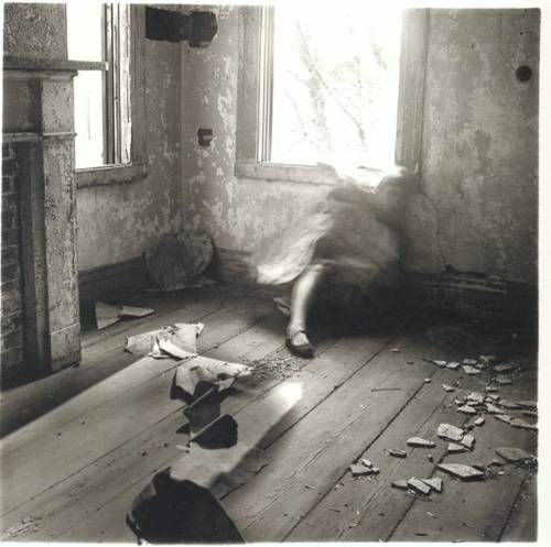 Francesca Woodman: House #3, Providence, Rhode Island, 1976. Francesca Woodman (1958–1981) was an American fine art photographer who tragically ended her life aged 22.