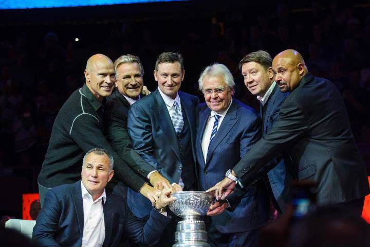 He coached the Edmonton Oilers to four Stanley Cup championships and by the end of this week Glen Sather will join the ranks of nine other Oilers greats by having a banner raised in his honour at Rexall Place.