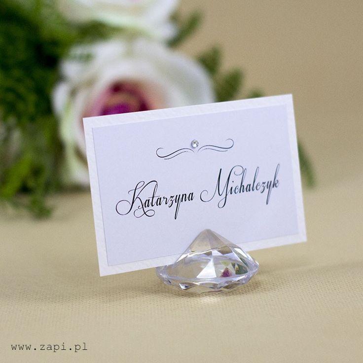 luksusowa winietka z kryształem