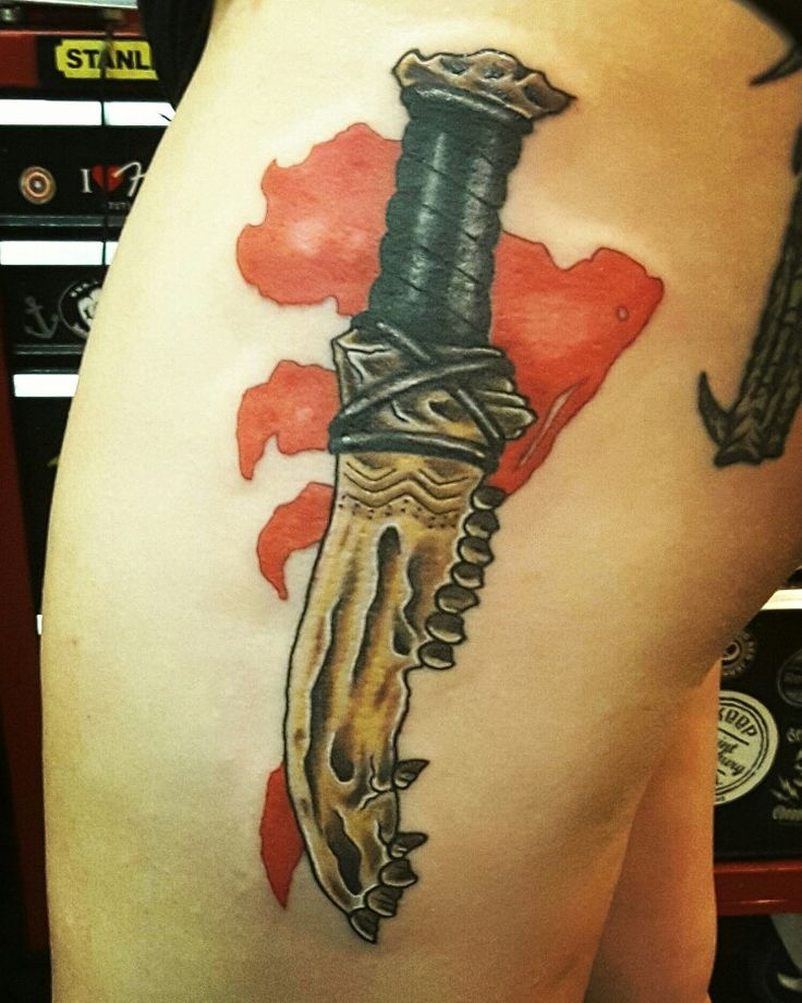 First Blade tattoo mark of cain Supernatural  #supernatural
