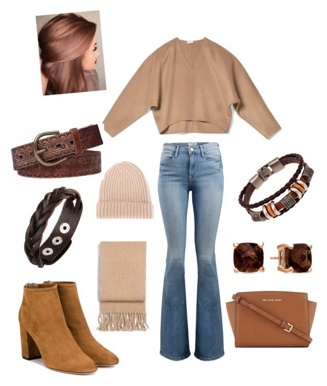 """It's Fall Y'all"" by corinna-smith-lockamy on Polyvore featuring Frame, Aquazzura, MICHAEL Michael Kors, DANIELAPI, rag & bone, LE VIAN and BKE"