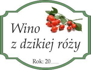 Naklejka na wino z dzikiej róży