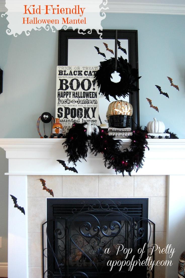 kid friendly halloween mantel mantle halloween decorating