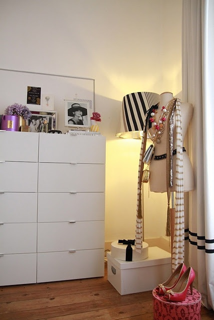 Gorgeous dressing space by Ana Antunes