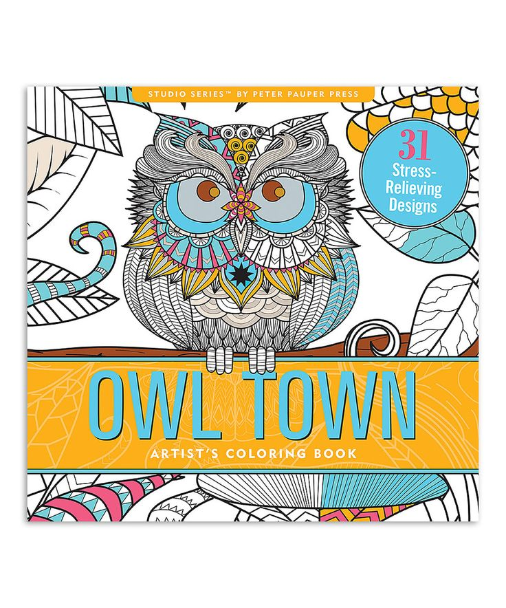 Owl Town Coloring Book By Peter Pauper Press