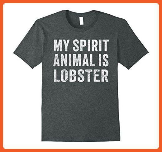 Mens My Spirit Animal Is Lobster Shirt 2XL Dark Heather - Animal shirts (*Partner-Link)