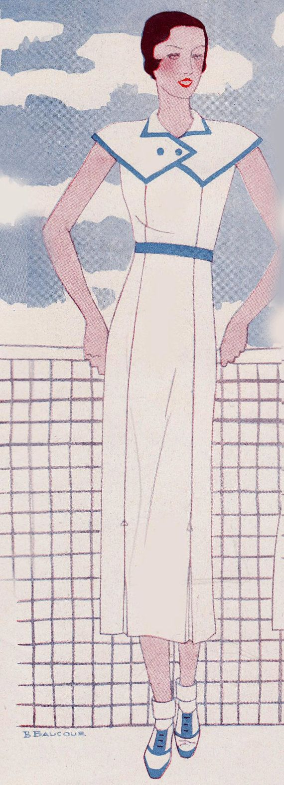 1930s Sewing Patterns- 1930s Dress -INSTANT DOWNLOAD- $8.50 AT vintagedancer.com