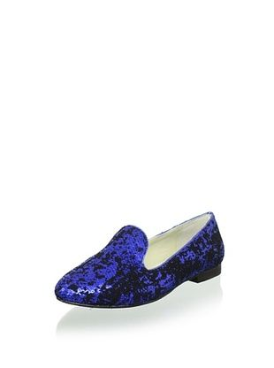 Australia Luxe Collective Women's Classica Sequin Velvet Flat (Cobalt)