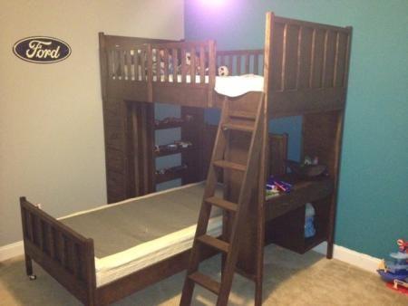 cabin bunk for my 5yo son do it yourself home projects from ana white - Einfache Hausgemachte Etagenbetten