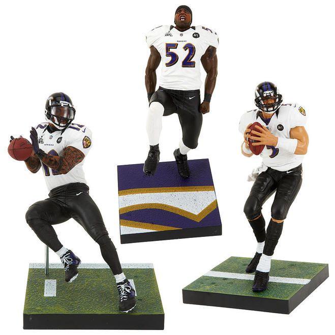 Baltimore Ravens Sport Picks NFL 3- Pack Champion Figurines Z157-8792674306
