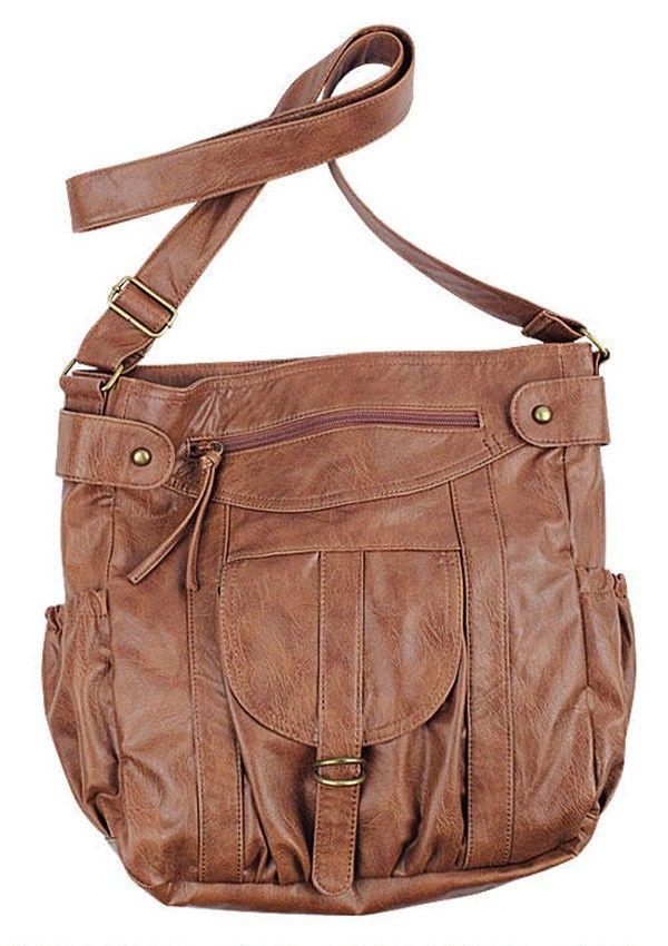 Cute Brown Crossbody Bags. Simple Shoulder Crossbody Bag ...