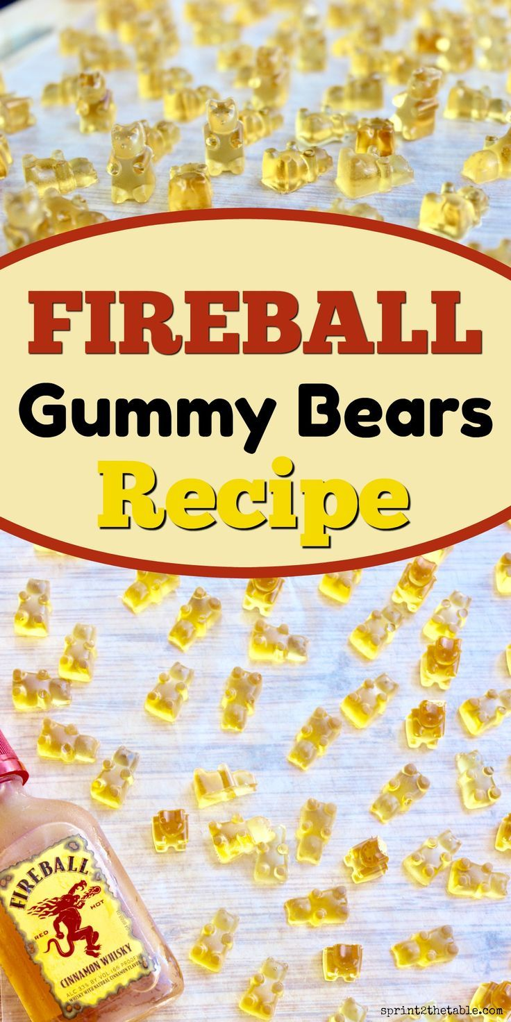 DIY Fireball Gummy Bears are exactly when you need this summer.  With just 3 ingredients, they're as simple as jello shots and much easier to eat!