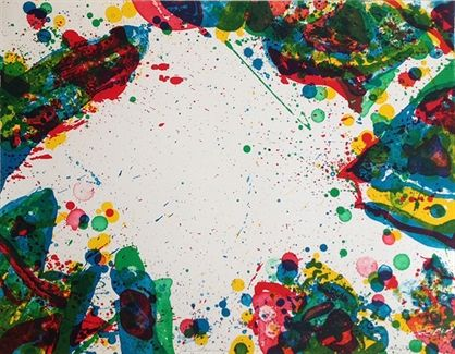 Artist Sam Francis developed his signature colorful abstract style after moving to Paris in 1950 - which he is famed for to this day.
