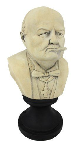 Ceramic Winston Churchill with Cigar Bust $39.99