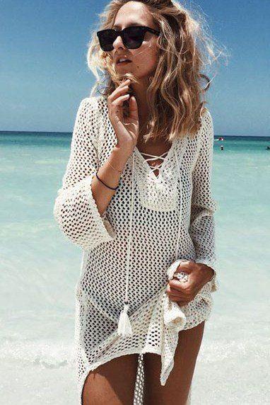 Robe plage blanche h&m