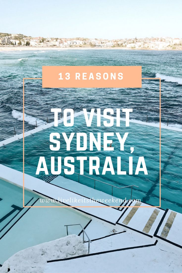 13 Reasons to Visit Sydney, Australia Stat via travel blog Live Like it's the Weekend