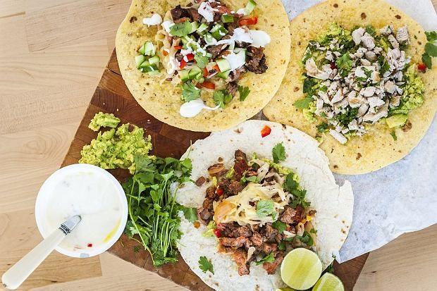 Tacosy z wołowiną i salsą pomidorowo-ogórkową