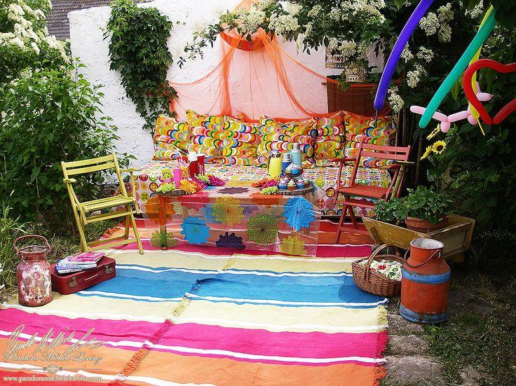 Outdoor Garten Indoor Deko Vin E Shabby Chic Hippie Flower Power