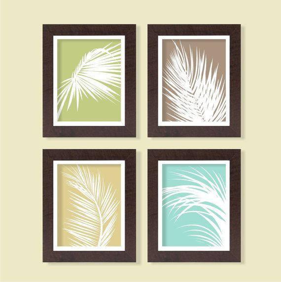 Palm Tree Print - Color Block - Set of 4 - 8x10 - Digital Printable Poster, Home Decor, Typography, Art, Download and Print JPEG Image on Etsy, $9.14