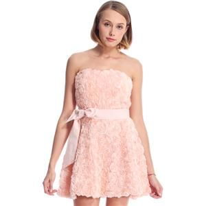 Faux Roses Embellished Pink Bandeau Dress #pariscoming your personal style online store. #outfit #stylist #Styling #streetstyle #fashionblog #fashiondiaries #fashiondiary #WearIt #WhatYouWear ✿ ❀ like it? buy now ❀ ✿