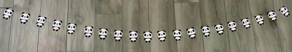 Panda Garland Panda Bear Garland Panda Bear Party Theme