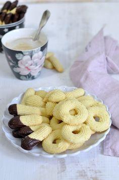 pastas de té caseras con chocolate