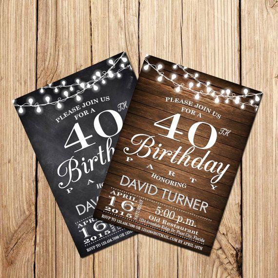 40th BIRTHDAY INVITATION Surprise 40th Birthday by DigitalLine