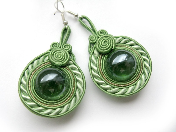 Decorative soutache earrings.via Etsy.