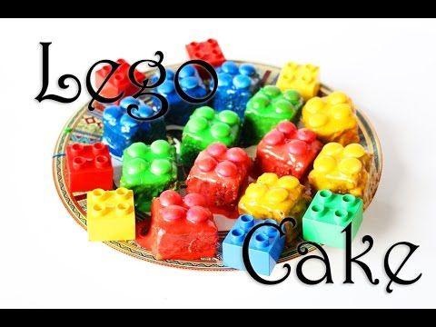 Lego-Kuchen mit Brownies und Smarties (Rezept + Video)
