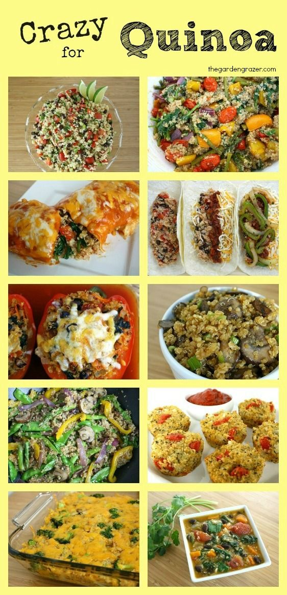 Crazy for Quinoa: the super hero of super foods. It's nutrient richness is off the charts!! Collection of quinoa recipes, info, and how to cook