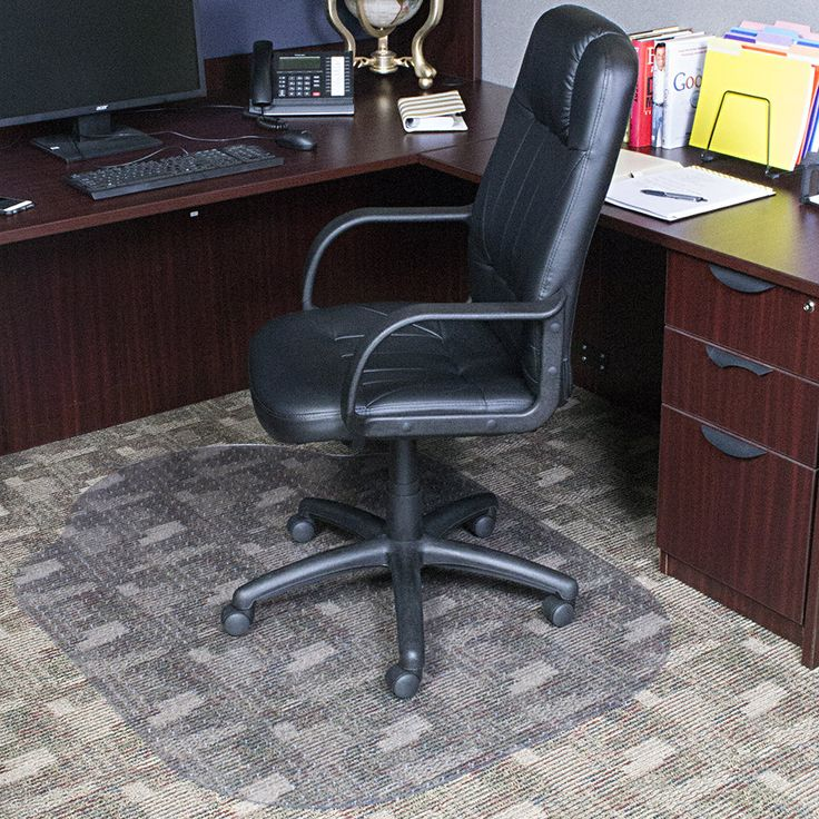 Evolve Modern Office Low and Medium Pile Carpet Beveled Edge Chair Mat