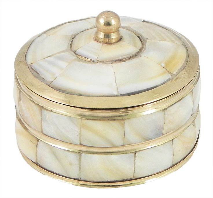 Vermillion Container (Shell and Brass)