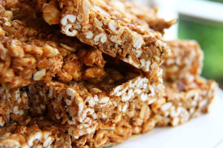 Crispy peanut butter marshmallow protein bars