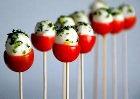 Caprese Salad Pops :): Idea, Olives Oil, Lemon Zest, Fingers Food, Capr Salad, Caprese Pop, Capr Pop, Sticks, Cherries Tomatoes