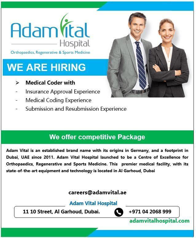 Medical Coder Uae Job Openings Medical Coder Medical Coding Job Opening