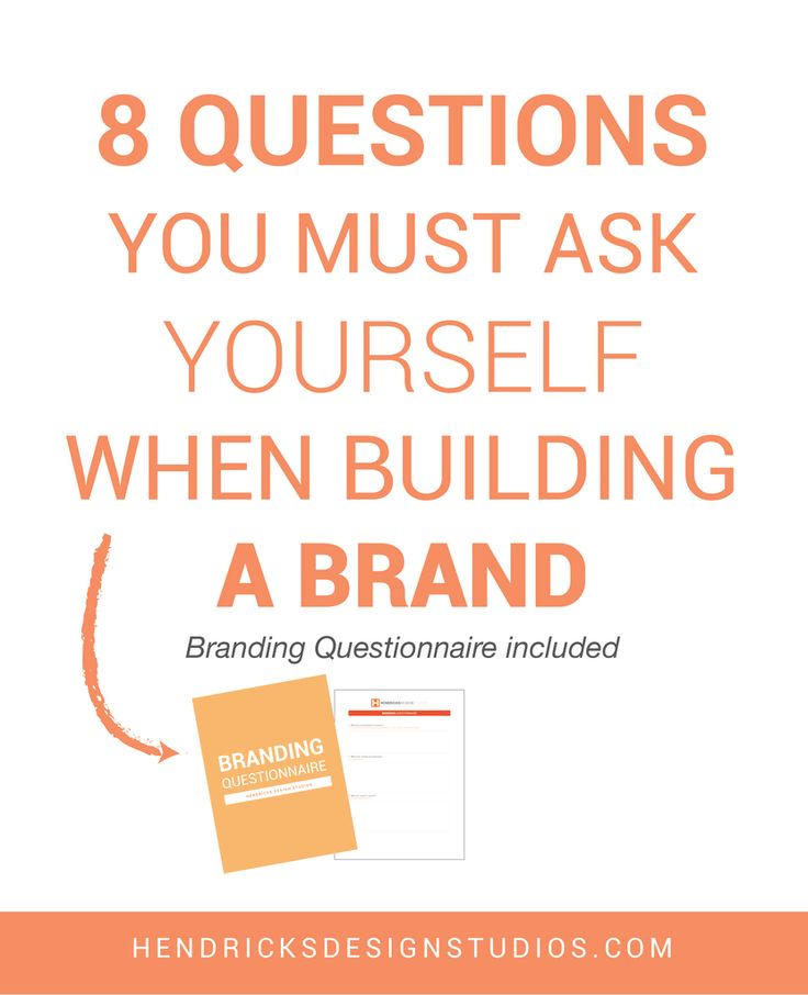 Ready to build a brand but not sure where to start? We have all been there. To start creating a brand, you must know your business. Answer the 8 Questions You Must Ask Yourself When Building a Brand. Click through to read more and to download the free questionnaire.