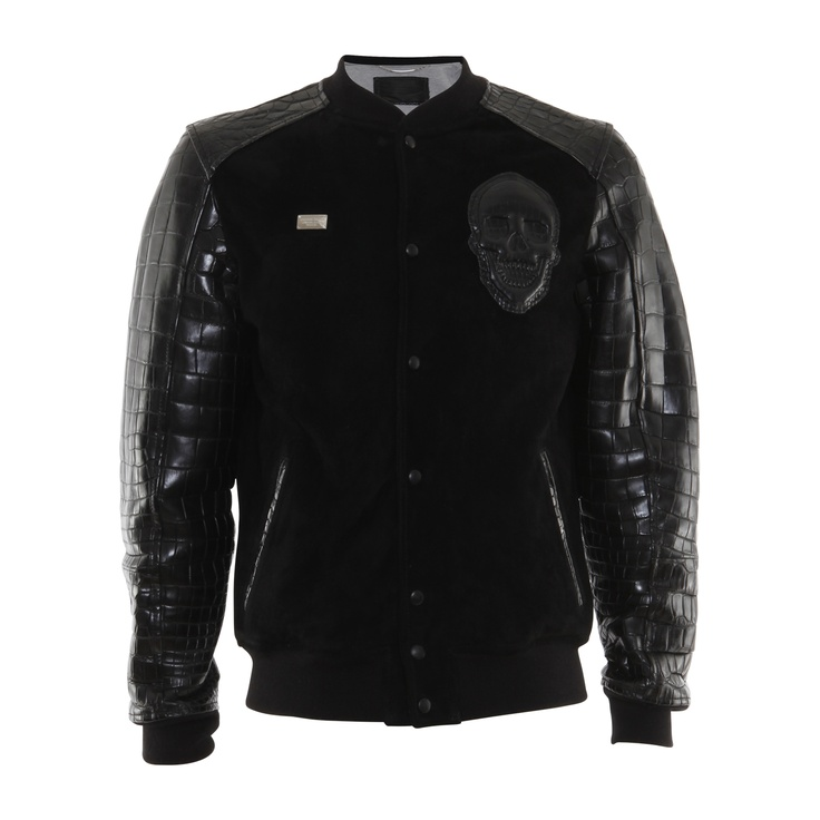 Jacket Leather Team Croco $12,900 #PhilippPlein