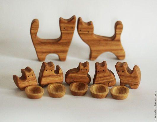 Развивающие игрушки ручной работы. Ярмарка Мастеров - ручная работа. Купить Кошки с пятью котятами. деревянная развивающая игрушка. Пазл.. Handmade.