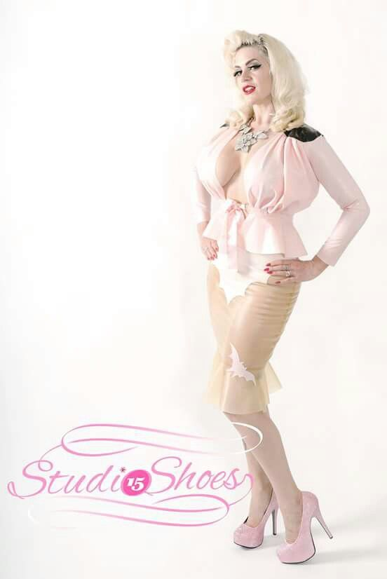 Latex Suit Pinup Shoot by Bruce Jenkins for Studio 15 Shoes Modelled by Rachel Renegade