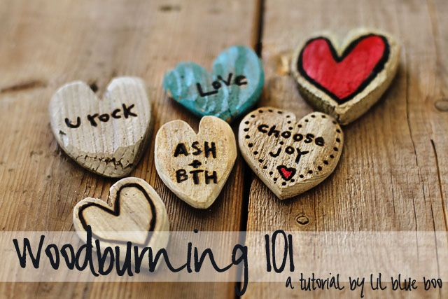 Woodburning 101. Love these little driftwood hearts! Great as a love note, wedding party favor, lunch box note etc. #tutorial