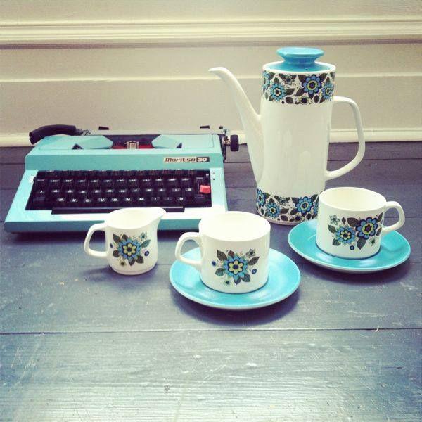 J&G Meakin April Flowers Studio coffee set