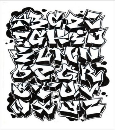 Graffiti Style Cool Letters | Serawot: Graffiti Alphabet ...