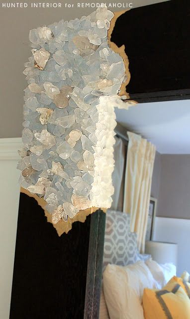 DIY Mirror Frame - Rough Cut Quartz Mirror Frames