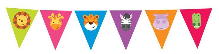 Banderines para decorar fiestas de animalitos #fiestadelaselva #fiestadesafari #fiestastematicas #animales #globosdeanimales #globocaballo #globojirafa #globopez #animalparty #safariparty #zooparty #ideasfiesta #fiestainfantil #globosfiesta #balloons