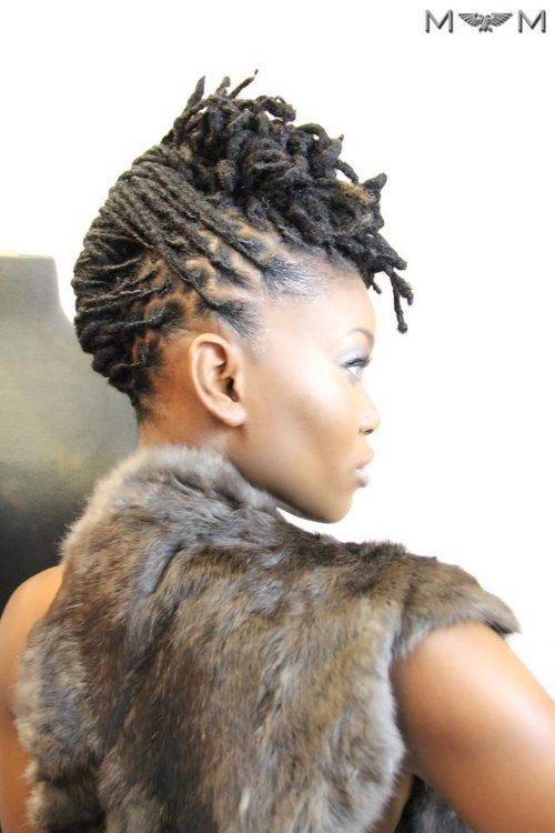 Upswept Locs | 20 Effortless Styles For Growing Out Your Natural Hair