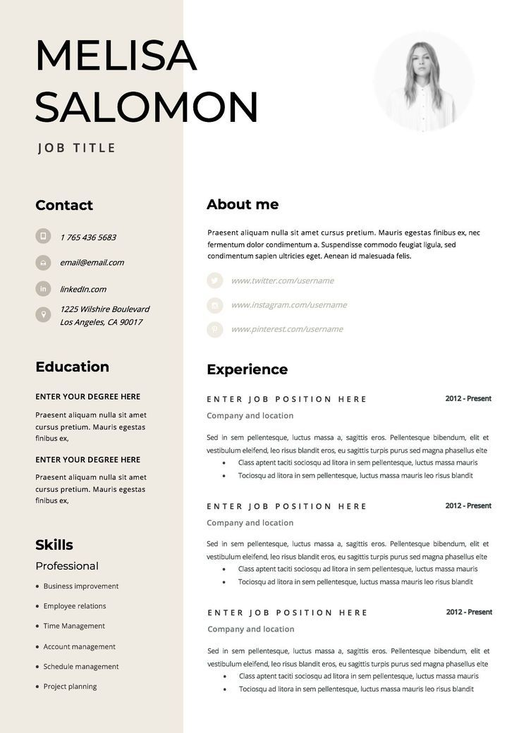 Resume Template Cv Template Resume Cv Design Teacher Etsy Downloadable Resume Template Resume Template Professional Resume Template Word