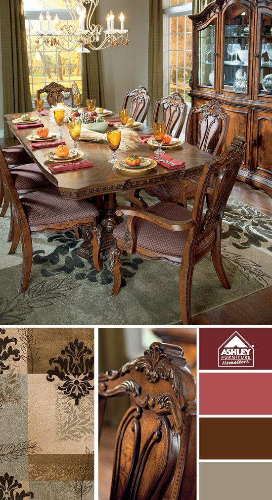 Love the traditional look for the dining room  Ledelle Dining Room   Ashley  Furniture HomeStore. 265 best On Trend D cor images on Pinterest   Furniture ideas