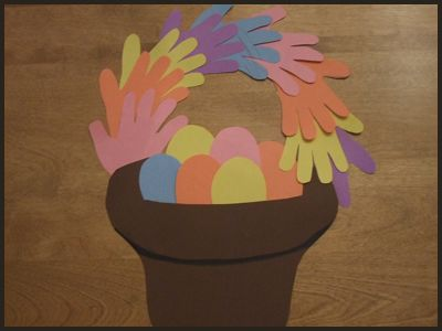 Easter Basket Craft for Kids : How to Make an Easter Basket with Your Child's Handprints