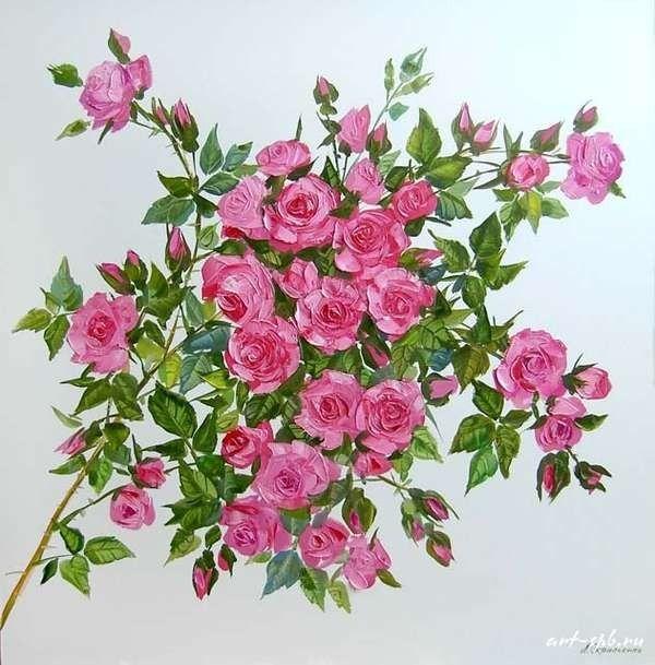 Lyudmila Scripcenco - Creangă înflorită de trandafir